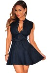 Dark-Denim-Belted-Skater-Dress-LC22161-2