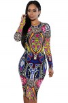 Tribal-Print-Multi-Colour-Pencil-Dress-LC60942-22